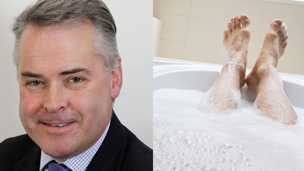 MP Tim Loughton and a bath