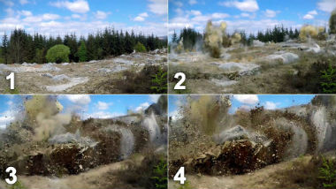 How to blow up 20,000 tonnes of rock